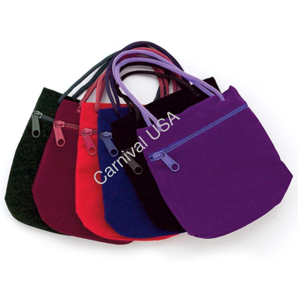 Velour Pouches w/Zipper