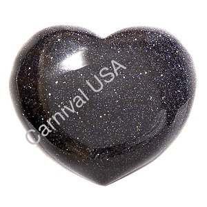 Blue Goldstone Pocket Heart
