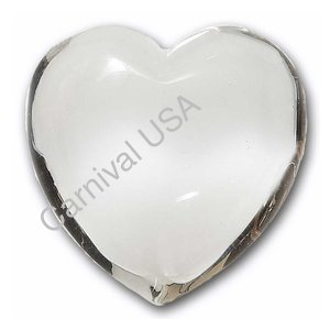 Clear Quartz pocket heart