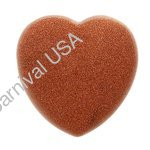Red Goldstone Hand Held Heart