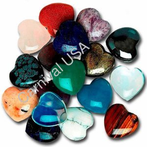Assorted Stones Pocket Hearts