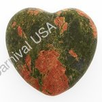 Unakite Pocket Heart