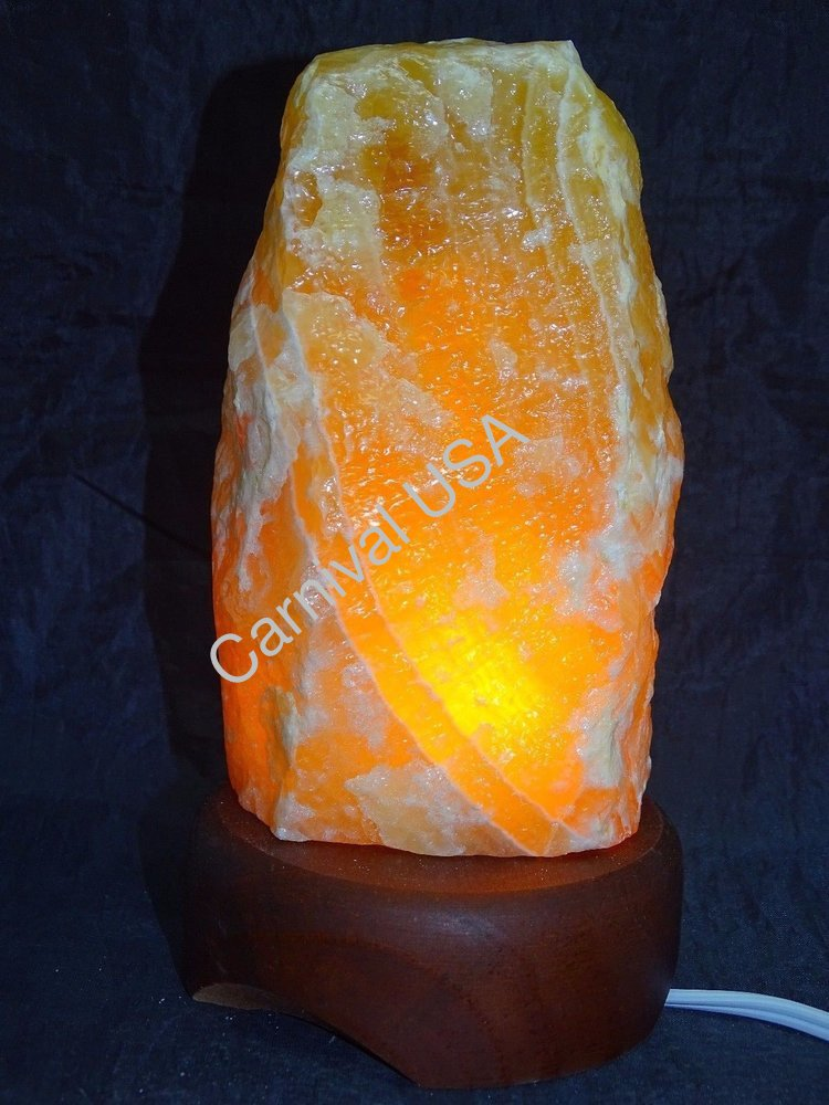 Orange Calcite Lamp