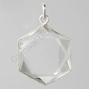 Clear Quartz Star Pendant