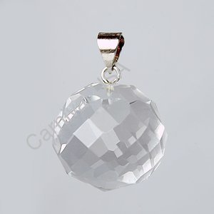 Clear Quartz Ball Pendant