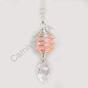 Clear/Rose Quartz Pendulum