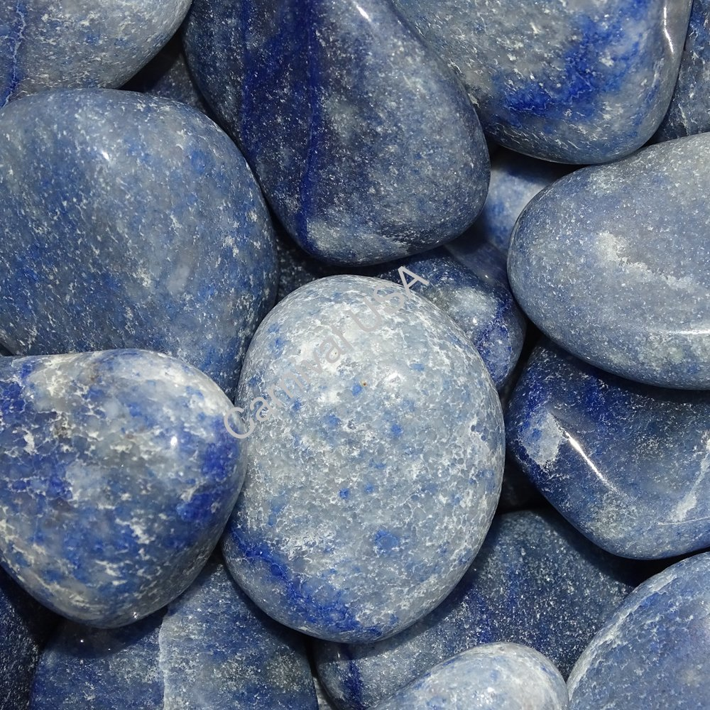Blue Quartz Tumbled Stones