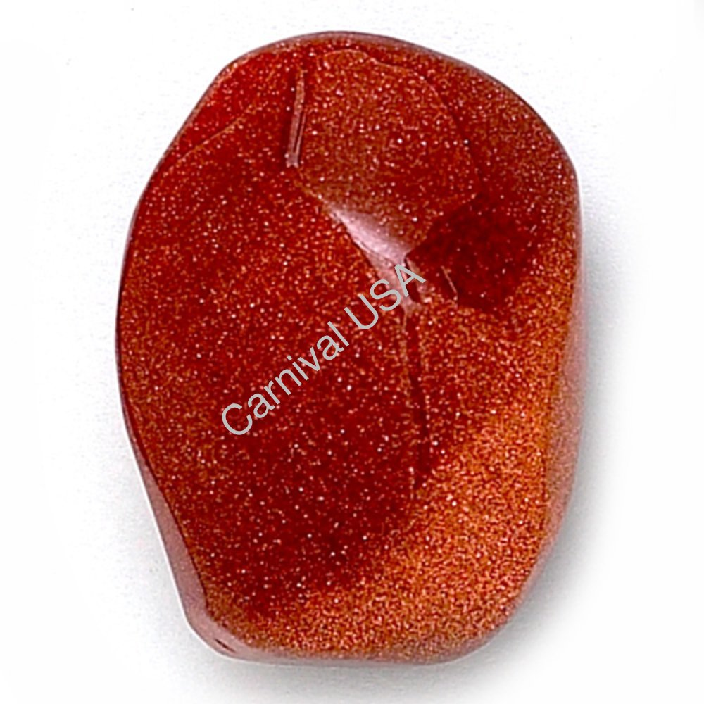 Red Goldstone Palm Stone